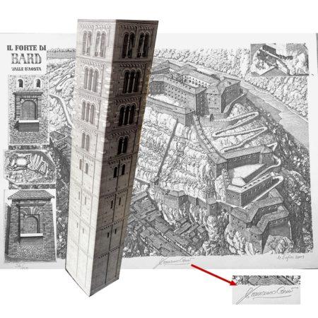 Stampa Forte di Bard con dettagli numerato F. Corni