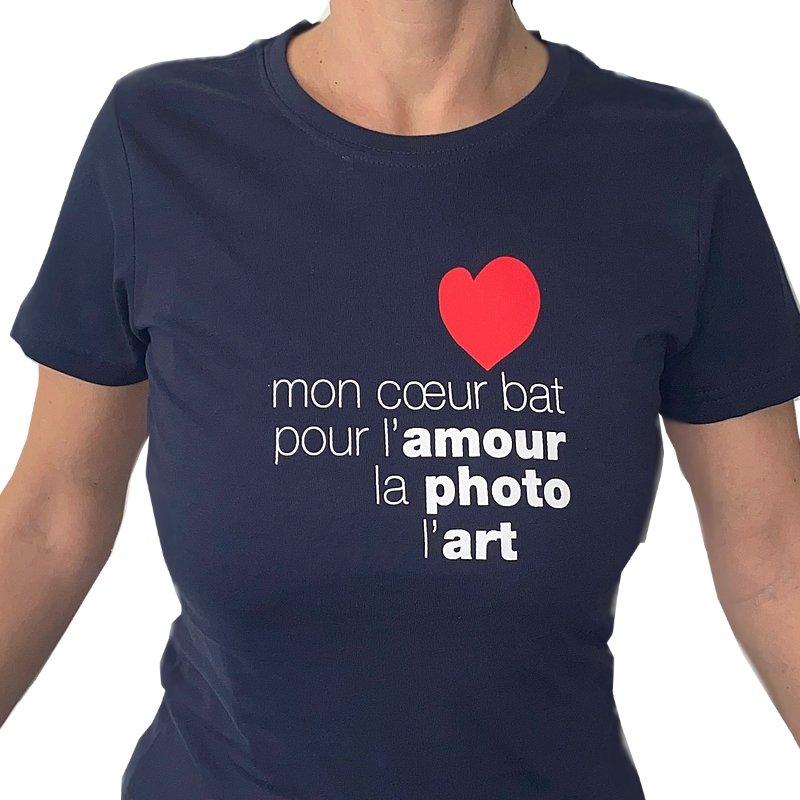 T-shirt blu donna Mon Coeur