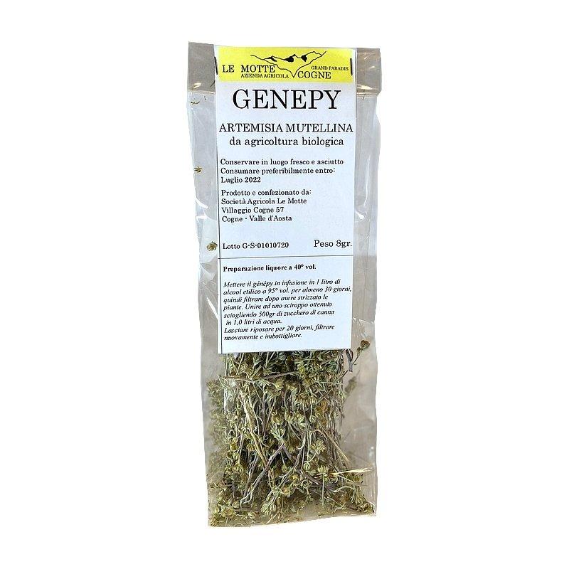 Sacchettino di Genepy essiccato con ricetta liquore